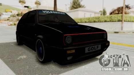 Volkswagen Golf 2 GTI para GTA San Andreas vista direita