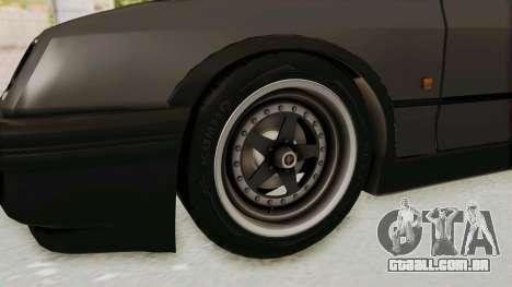 Ford Sierra Mk1 Drag Version para GTA San Andreas vista traseira