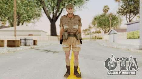 MGSV Phantom Pain CFA Soldier v2 para GTA San Andreas segunda tela