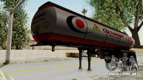 Trailer de Conbustible para GTA San Andreas traseira esquerda vista