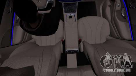Mercedes-Benz w222 para GTA 4 vista de volta