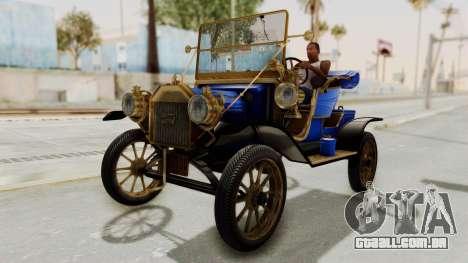 Ford T 1912 Open Roadster v2 para GTA San Andreas vista direita