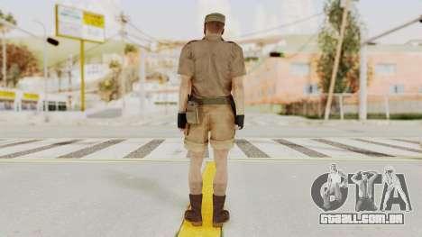 MGSV Phantom Pain CFA Soldier v2 para GTA San Andreas terceira tela
