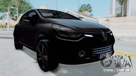 Renault Clio 4 IVF para GTA San Andreas vista direita