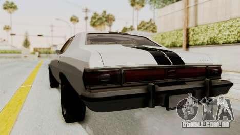 Ford Gran Torino 1975 para GTA San Andreas traseira esquerda vista