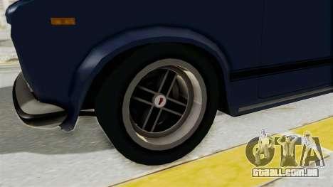 Seat 124 2000 para GTA San Andreas vista traseira