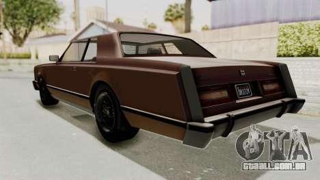 GTA 5 Dundreary Virgo Classic para GTA San Andreas esquerda vista