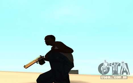 Desert eagle gradient para GTA San Andreas segunda tela