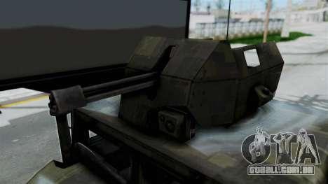 Humvee M1114 Woodland para GTA San Andreas vista traseira