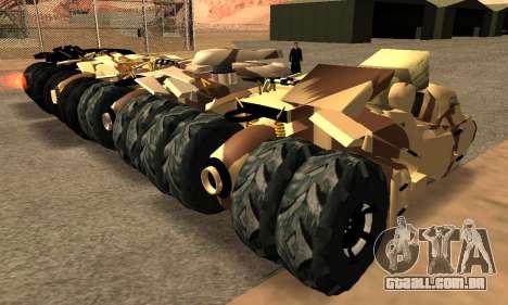 Army Tumbler Gun Tower from TDKR para GTA San Andreas vista interior