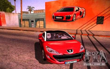 Audi R8 Wall Grafiti para GTA San Andreas segunda tela