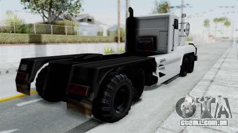 Roadtrain 8x8 v1 para GTA San Andreas traseira esquerda vista