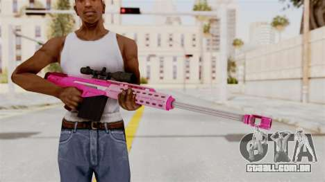 GTA 5 Heavy Sniper Pink para GTA San Andreas terceira tela