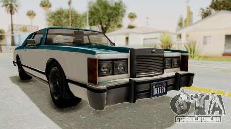 GTA 5 Dundreary Virgo Classic IVF para GTA San Andreas traseira esquerda vista