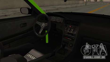 Nissan Skyline R33 Drift Monster Energy Falken para GTA San Andreas vista interior