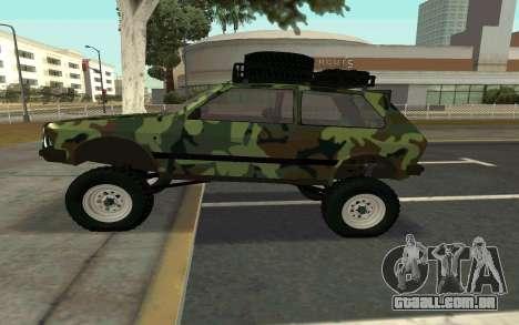 Zastava Yugo para GTA San Andreas esquerda vista