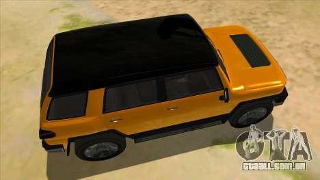 Karin Beejay XL para GTA San Andreas vista interior