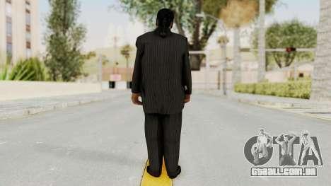 Taher Shah Black Suit para GTA San Andreas terceira tela