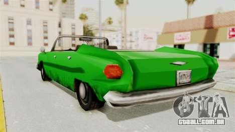 Glendale XS para GTA San Andreas esquerda vista