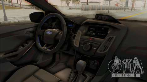 Ford Focus RS 2017 para GTA San Andreas vista interior