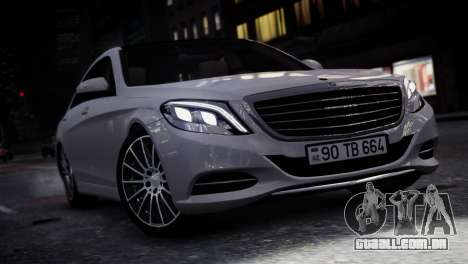 Mercedes-Benz w222 para GTA 4 traseira esquerda vista