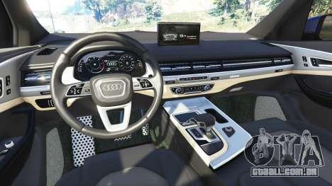 GTA 5 Audi Q7 2015 [rims1] traseira direita vista lateral