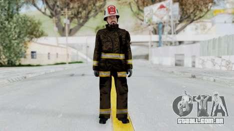 GTA 5 Fireman SF para GTA San Andreas segunda tela