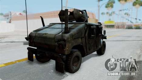 Humvee M1114 Woodland para GTA San Andreas esquerda vista