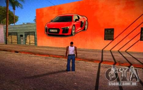 Audi R8 Wall Grafiti para GTA San Andreas