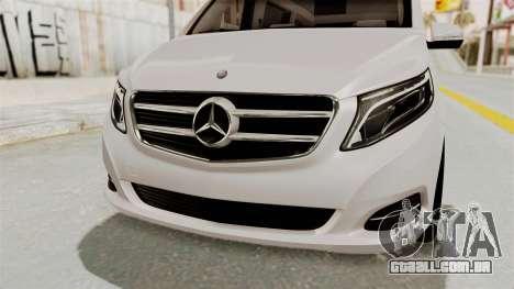 Mercedes-Benz V-Class 2015 para GTA San Andreas vista superior