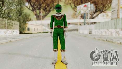Power Ranger Zeo - Green para GTA San Andreas segunda tela