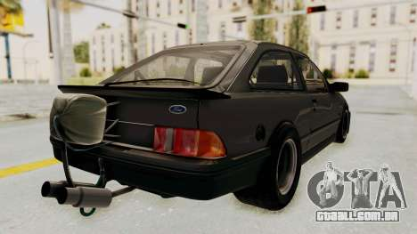 Ford Sierra Mk1 Drag Version para GTA San Andreas esquerda vista