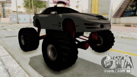 Pontiac Firebird Trans Am 2002 Monster Truck para GTA San Andreas vista direita