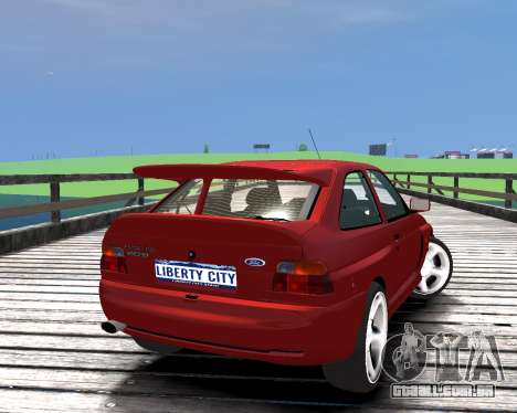 Ford Escort RS Cosworth para GTA 4 esquerda vista