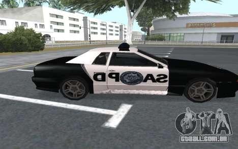 Elegy SAPD para GTA San Andreas traseira esquerda vista