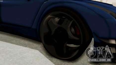 GTA 5 Annis Elegy Twinturbo Spec para GTA San Andreas vista traseira