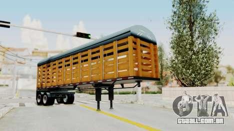 Trailer de Estacas para GTA San Andreas traseira esquerda vista