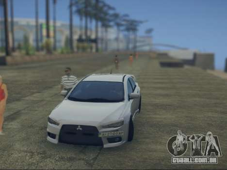 Mitsubishi Lancer Evolution X para GTA San Andreas vista direita