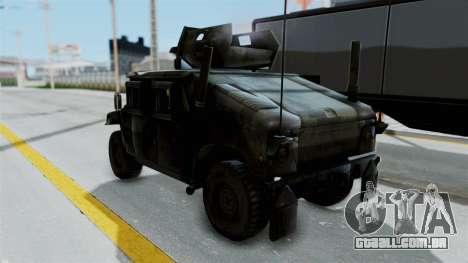 Humvee M1114 Woodland para GTA San Andreas traseira esquerda vista