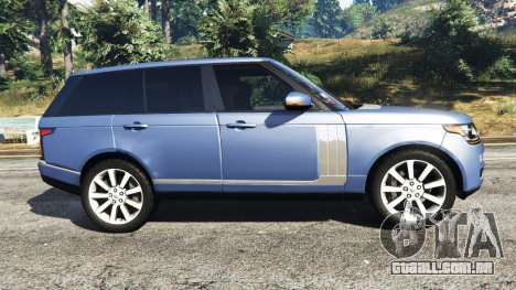 GTA 5 Range Rover (L405) Vogue 2013 vista lateral esquerda