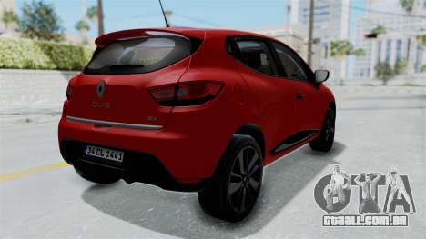 Renault Clio 4 HQLM para GTA San Andreas vista direita