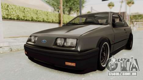 Ford Sierra Mk1 Drag Version para GTA San Andreas vista direita