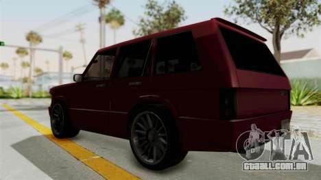 Huntley para GTA San Andreas traseira esquerda vista
