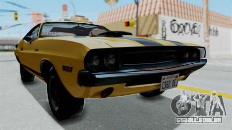 Dodge Challenger RT 440 1970 Six Pack para GTA San Andreas vista direita