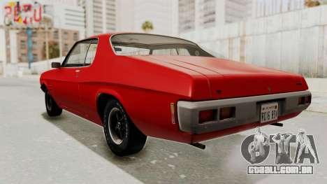 Holden Monaro GTS 1971 SA Plate IVF para GTA San Andreas traseira esquerda vista