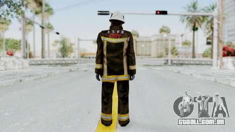 GTA 5 Fireman SF para GTA San Andreas terceira tela