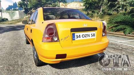 GTA 5 Hyundai Accent Admire traseira vista lateral esquerda