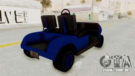GTA 5 Gambler Caddy Golf Cart IVF para GTA San Andreas esquerda vista