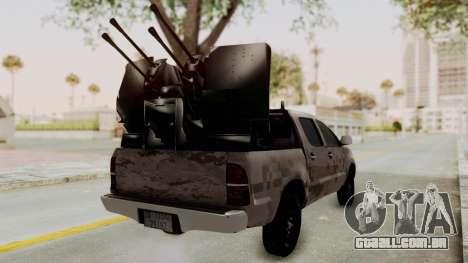 Toyota Hilux 2014 Army Libyan para GTA San Andreas traseira esquerda vista