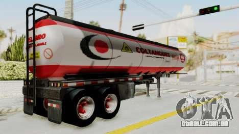 Trailer de Conbustible para GTA San Andreas esquerda vista